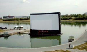 Inflatable Air Screen for Outdoor Cinema